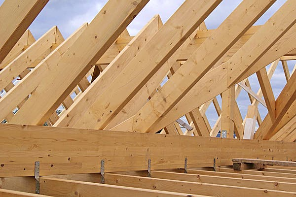 Dachstuhl von Erkens Holztechnik