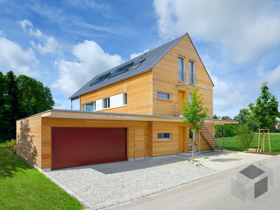 Erstling - Kundenhaus von Baufritz Außenansicht