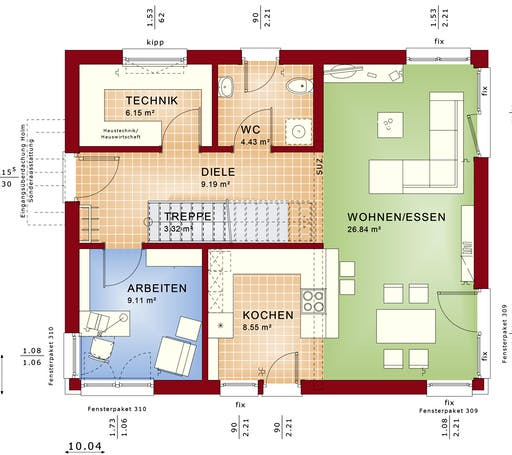 Evolution 134 V2/V4 Floorplan 1