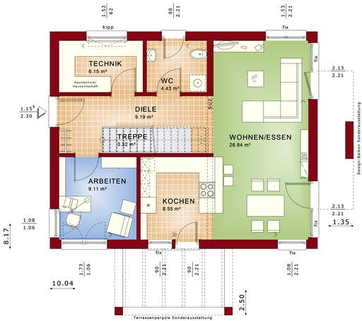 Evolution 134 V3/V5/V6 Floorplan 1