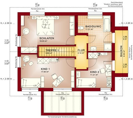 Evolution 134 V3/V5/V6 Floorplan 2
