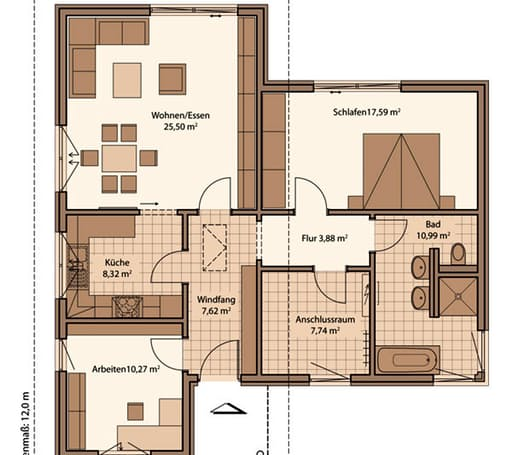 Fame 90 b out von schwabenhaus komplette for Floor plans for 160 000