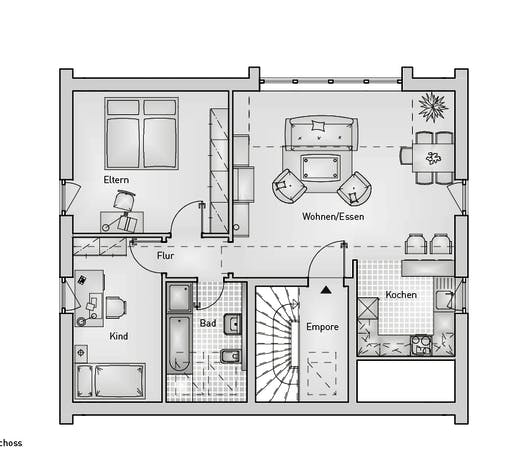 Family 10.124 EFH Floorplan 2