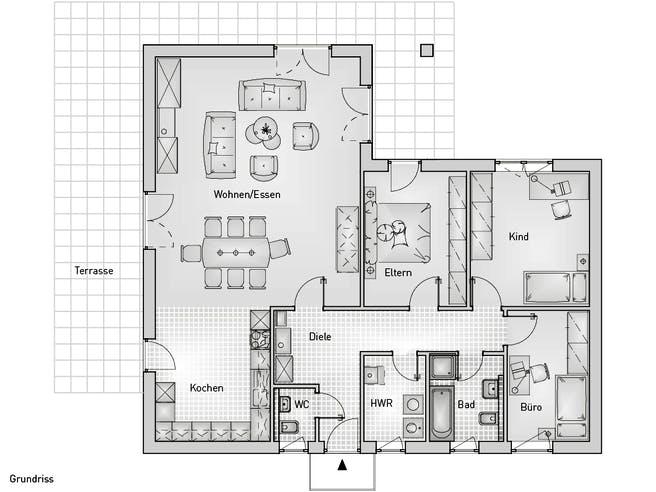 Family 40.12 Bungalow Floorplan 1