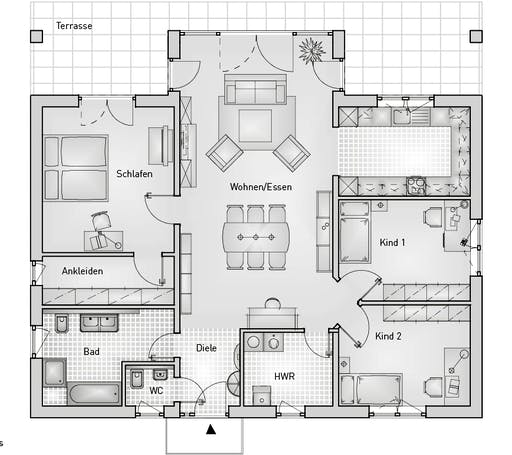 Family 40.25 Bungalow Floorplan 1