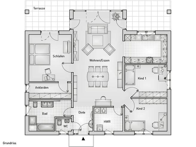 Family 40.25 Bungalow Floorplan 1