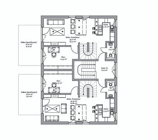 Fischerhaus - 3-Familienhaus 324 Floorplan 2