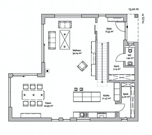 Fischerhaus - Bauhaus 190 Floorplan 1