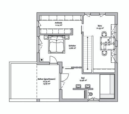 Fischerhaus - Bauhaus 190 Floorplan 2