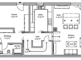 Bauhaus 200 von FischerHaus Grundriss 1