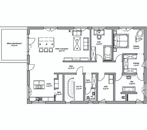 Fischerhaus - Bauhaus 333 Floorplan 2