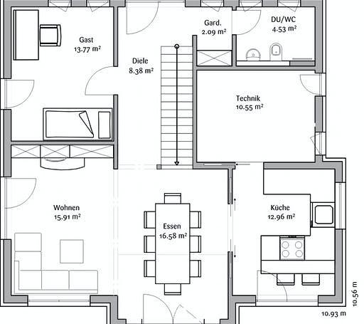 Fischerhaus - Klassisch 148 Floorplan 1