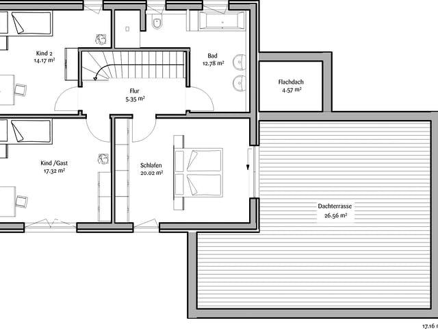 Obergeschoss Zweifamilienhaus von FischerHaus