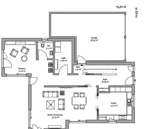 Fischerhaus - Modern 178 Floorplan 1