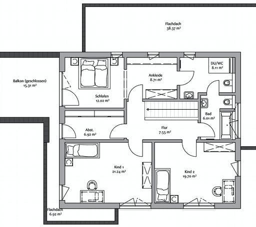 Fischerhaus - Modern 178 Floorplan 2