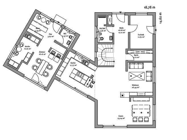Fischerhaus - Modern 240 Floorplan 1