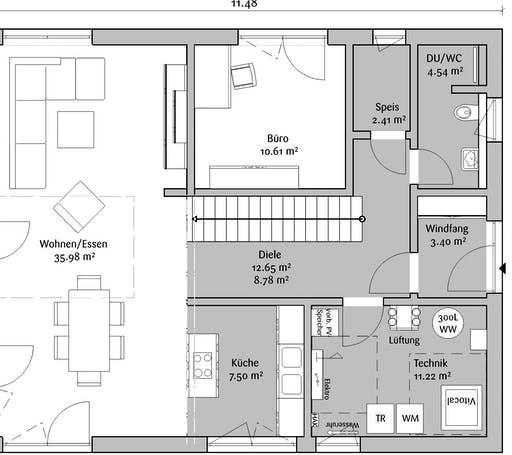 Fischerhaus - Stadtvilla 160 Floorplan 1