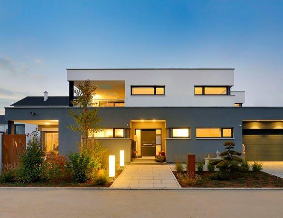 Außenanicht Architektenhaus von Fertighaus Weiss