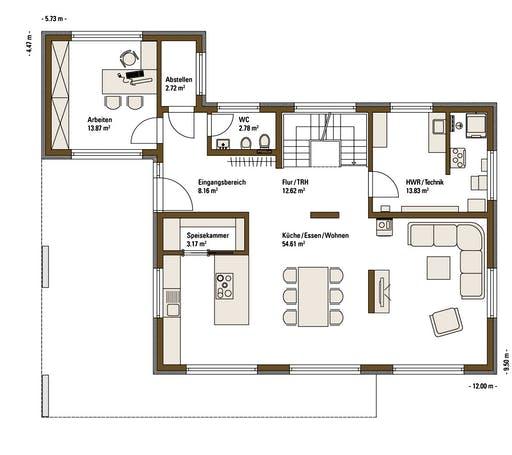 FH Weiss - Musterhaus Günzburg Floorplan 1