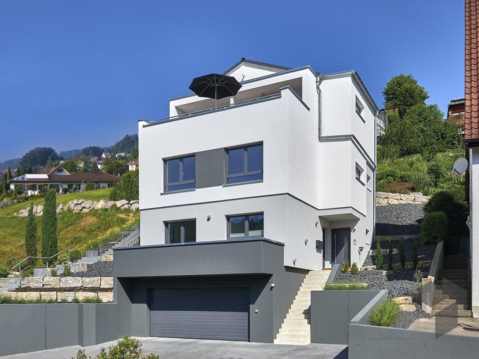 Haus Wied von Fertighaus WEISS Außenansicht