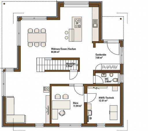 Fertighaus Weiss - MH Relax Fellbach Floorplan 1
