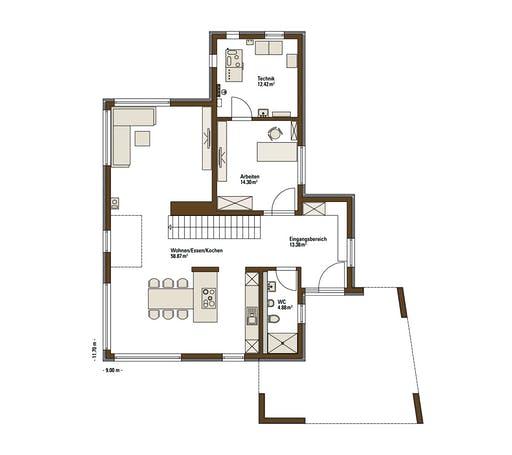Fertighaus Weiss - MH Balance Poing Floorplan 1