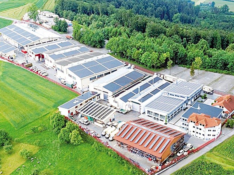 Firmengelände der Fertighaus Weiss GmbH