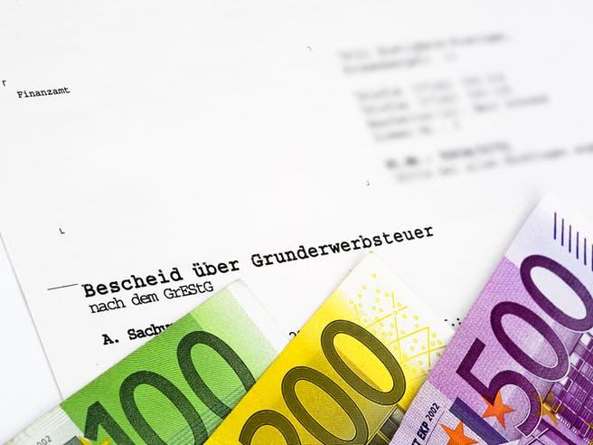 Finanzierung - Grunderwerbssteuerbescheid