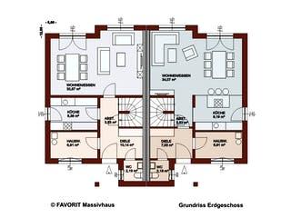 Finesse 124 von Favorit Massivhaus Grundriss 1
