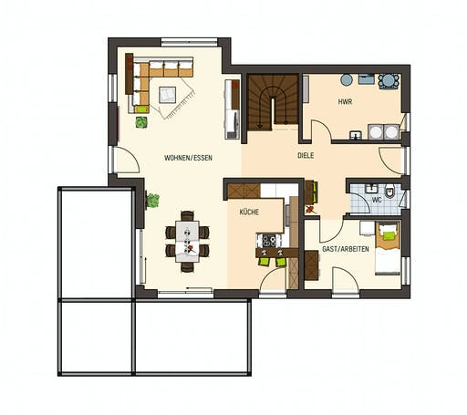 Fingerhaus - Medley 3.0 300B Falkenberg Floorplan 1