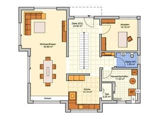 Bad Vilbel - Musterhaus NEU von Fingerhut Haus Grundriss 1