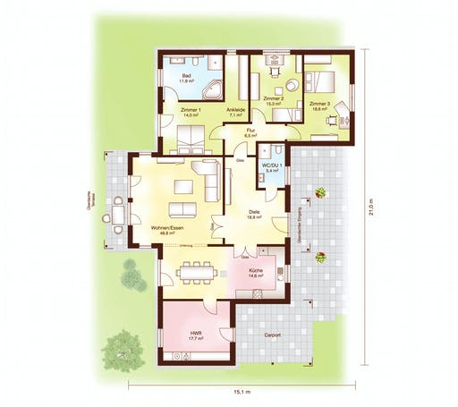 Fjorborg - Nordby Floorplan 1