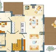 FLAIRplus - Musterhaus Marburg (frei geplant) Grundriss