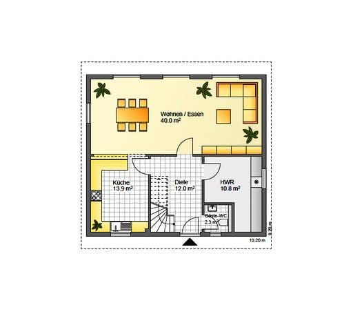 Flasche - Referenzhaus 1.3 Floorplan 1