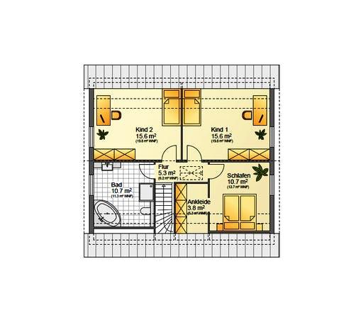 Flasche - Referenzhaus 1.3 Floorplan 2