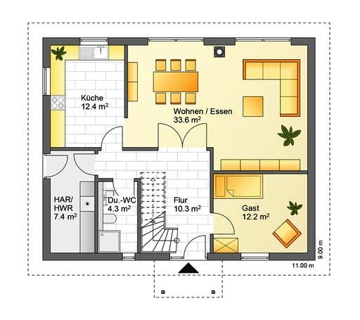 Flasche - Referenzhaus 2 Floorplan 1