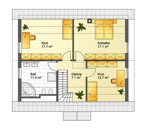 Flasche - Referenzhaus 2 Floorplan 2