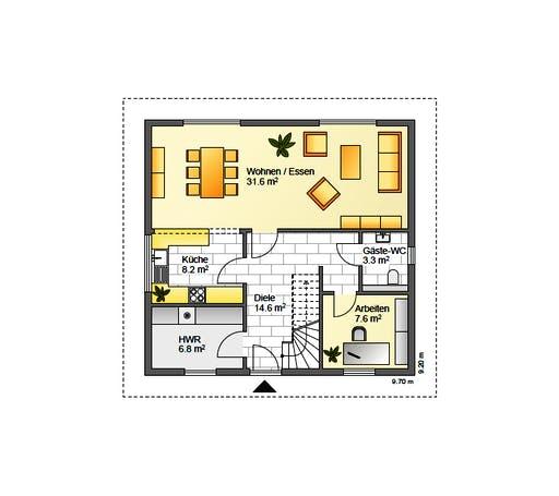Flasche - Referenzhaus 3 Floorplan 1