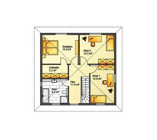 Flasche - Referenzhaus 3 Floorplan 2
