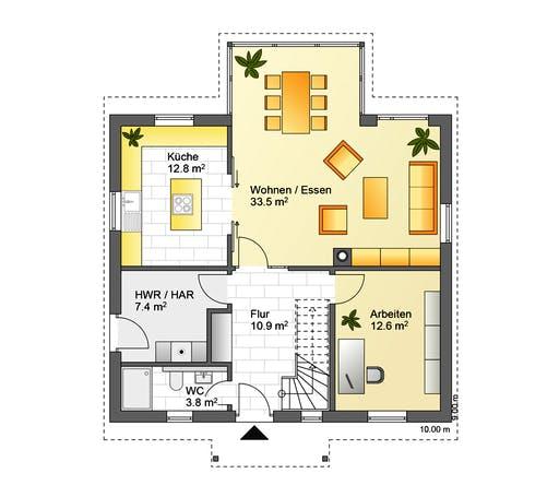 Flasche - Referenzhaus 4 Floorplan 1