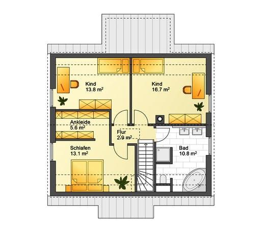 Flasche - Referenzhaus 4 Floorplan 2