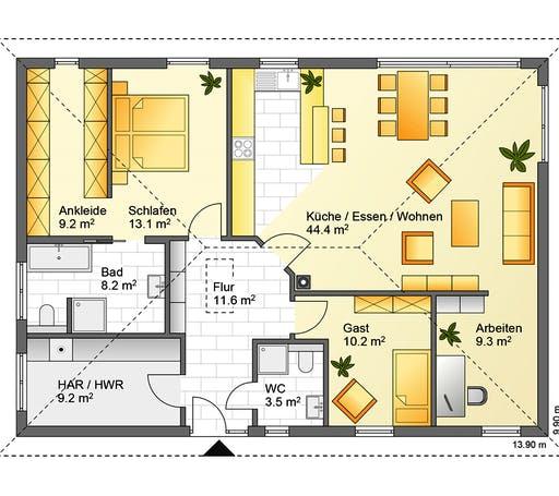 Flasche - Referenzhaus 5 Floorplan 1