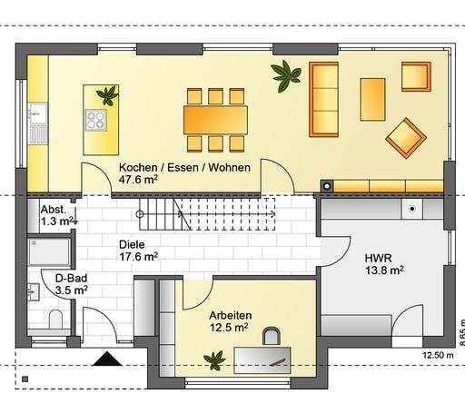 Flasche - Referenzhaus 6 Floorplan 1
