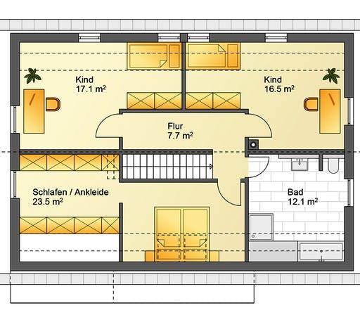 Flasche - Referenzhaus 6 Floorplan 2
