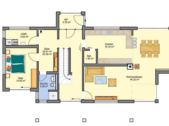 Flaviano von Büdenbender Hausbau Grundriss 1