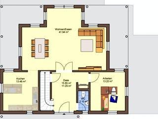 Florenzo - MH Bad Vilbel von Büdenbender Hausbau Grundriss 1