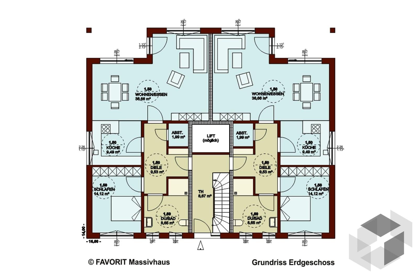mehrfamilienhaus format   von favorit massivhaus