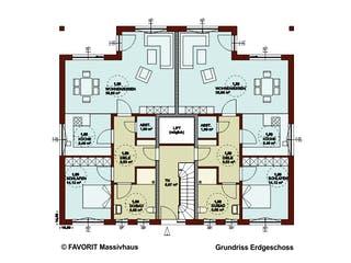 FORMAT 4-333 von Favorit Massivhaus Grundriss 1