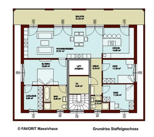 format 5 480 von favorit massivhaus komplette daten bersicht. Black Bedroom Furniture Sets. Home Design Ideas