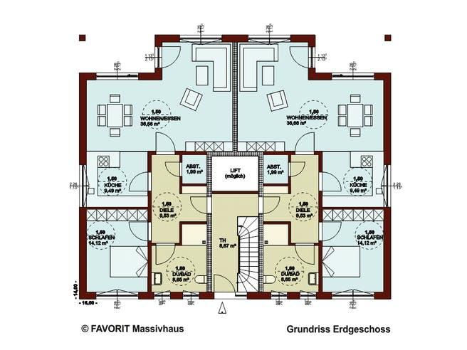 FORMAT 6-484 von Favorit Massivhaus Grundriss 1